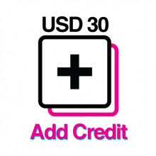 An icon for people to buy and top-up their credit on our website